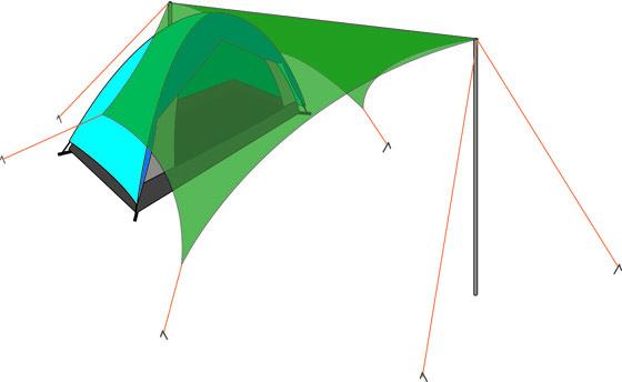 テントとミニタープ